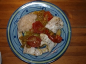 Fischfilets mit Gemüse